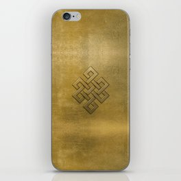 Golden Embossed Endless Knot iPhone Skin