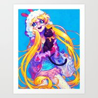 barachan Art Prints featuring bunny by barachan