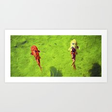 Colorful Catch Art Print