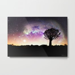 African galaxy skyline - Landscape Photography #Society6 Metal Print