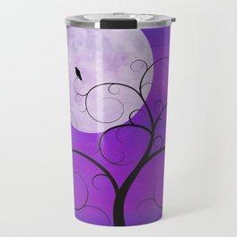 Purple Moon Cat Travel Mug