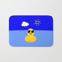 Cool Rubber Duck Yellow Bath Mat