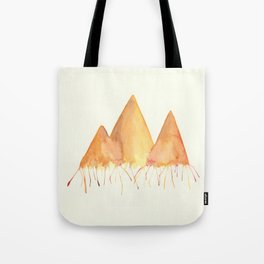 Dripping Watercolor Mountains Tote Bag