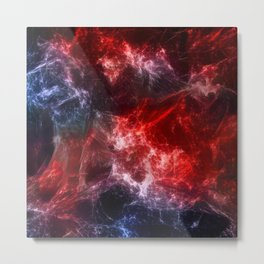 Space Nebular Wolves Metal Print