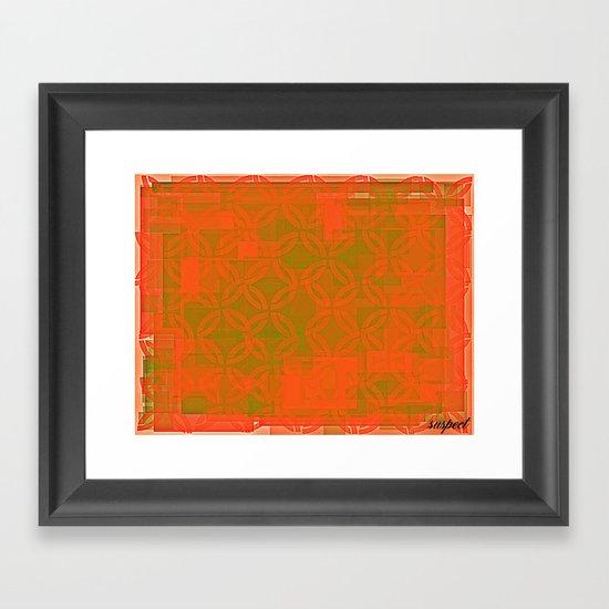 gold space? Framed Art Print