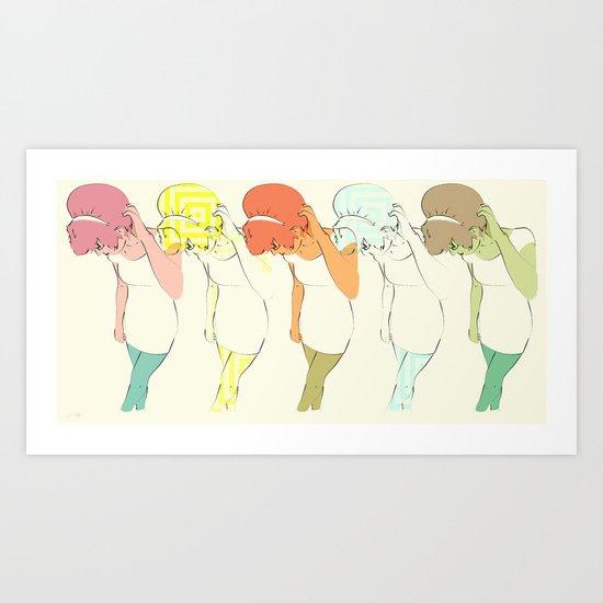 She Screamed Sixties Art Print