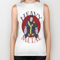 heavy metal Biker Tanks featuring Heavy Metal by Iron King