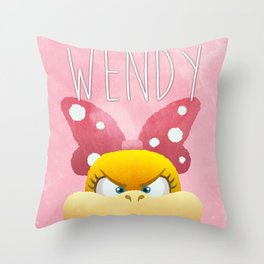 Wendy Koopa Throw Pillow