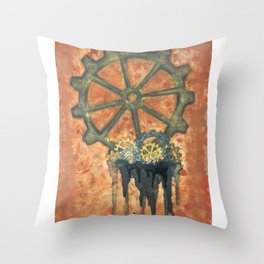 Steampunk Gears Throw Pillow