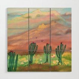 Saguaro Wood Wall Art