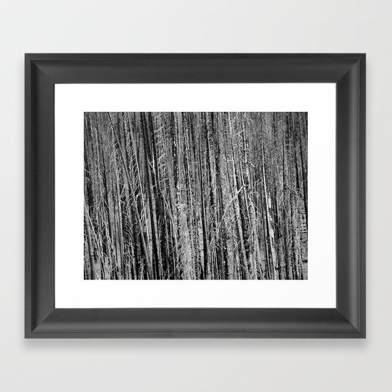 Toothpicks Framed Art Print