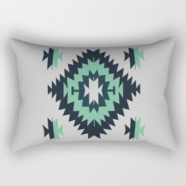 Santa Fe Southwestern Native Indian Tribal Geometric Pattern Rectangular Pillow