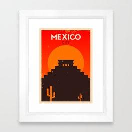 Vintage Mexico Poster Framed Art Print