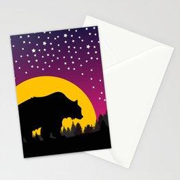 Bear Stars Moon Stationery Cards