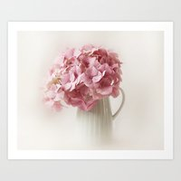 hydrangea Art Prints featuring Hydrangea by Ellen van Deelen
