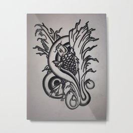 Koi Upstream Metal Print