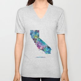 California Map Unisex V-Neck