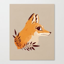 Fox Familiar Canvas Print