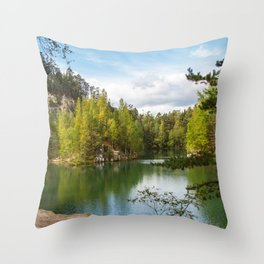 Adršpach-Teplice Rocks Throw Pillow