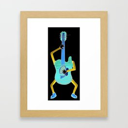 Guitar Dude Framed Art Print