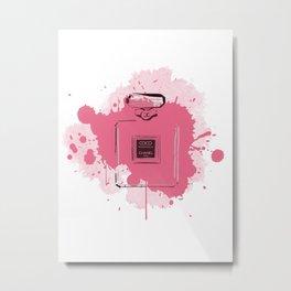 Pink Perfume Metal Print