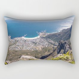 Panoramic view of Camps Bay from Table Mountain in Cape Town, South Africa Rectangular Pillow