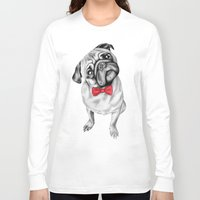 percy jackson Long Sleeve T-shirts featuring Percy Pug by 13 Styx