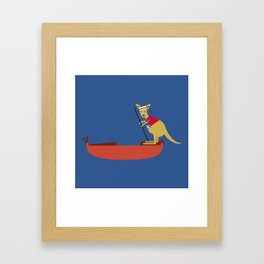 Kangaroo on Gondola Framed Art Print