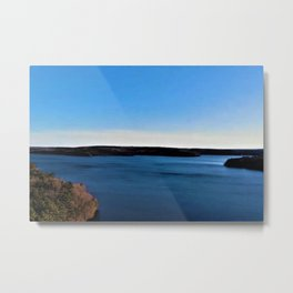 Aerial View of the Scituate Reservoir, Scituate, Rhode Island Metal Print