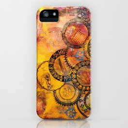 Mandala Be Grateful iPhone Case