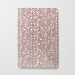 bohemian diamonds - mauve Metal Print
