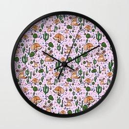 Cute Fennec Fox Pattern Wall Clock