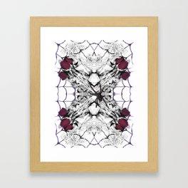 Roses Black Widow Framed Art Print