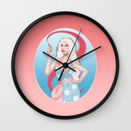 Lipstick Swirl Wall Clock