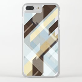 Geometric Earth Tones Abstract Clear iPhone Case