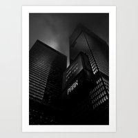 Downtown Toronto Fogfest No 16 Art Print