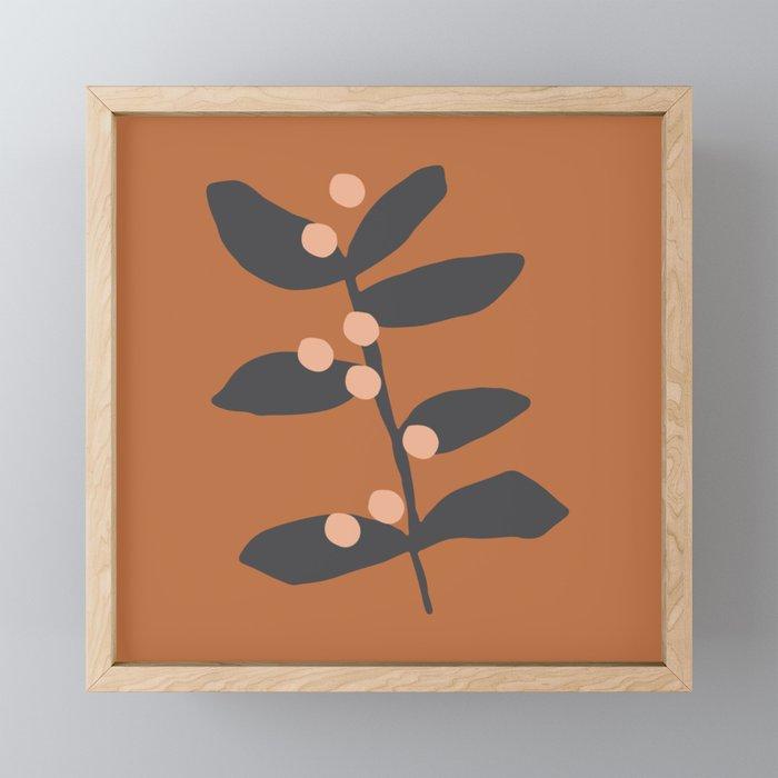 Berries & Branches | Burnt Sienna Framed Mini Art Print