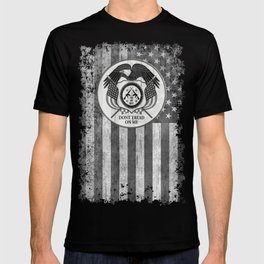Faith Hope Liberty & Freedom Eagle on US flag T-shirt