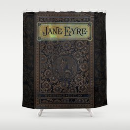 Jane Eyre by Charlotte Bronte, Vintage Book Cover Shower Curtain