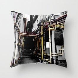 Village Back Street Throw Pillow