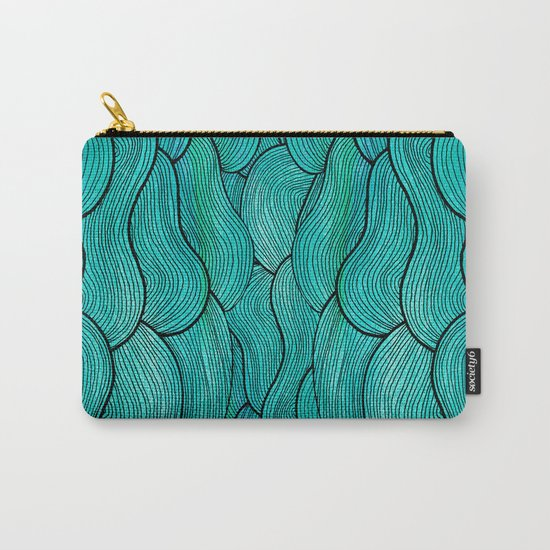Sea Waves Carry-All Pouch