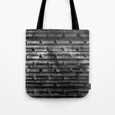 Black Stars & Black Stripes Tote Bag