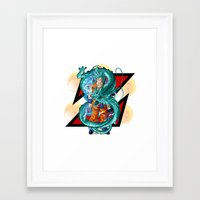 dbz Framed Art Prints featuring DBZ - A Hero by Mr. Stonebanks