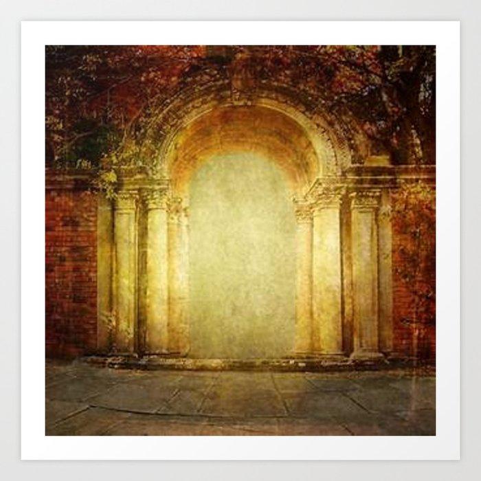 Vintage traditional old fort main gate design Art Print by  imaginationandinspiration