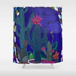 Cactus Odyssey 4 Shower Curtain