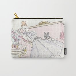 War and Peace Nap with French Bulldog & Kitty : Fashion & Fluffballs Carry-All Pouch