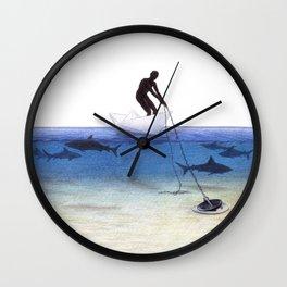 Parting Ways by Lars Furtwaengler   Colored Pencil   2013 Wall Clock