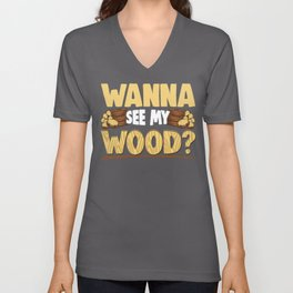 Funny Woodworking Carpenter Meme Gift Unisex V-Neck