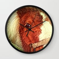 my little pony Wall Clocks featuring My Little Pony by Elizabeth Wilson Photography