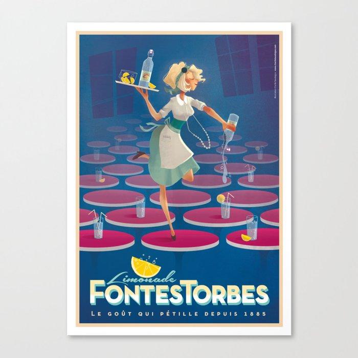 "vintage poster ""Limonade Fontestorbes"" Canvas Print"